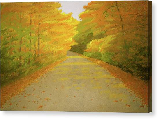 Fall Road Granby Canvas Print by Bruce Richardson
