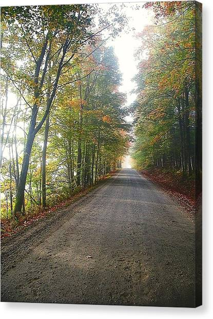 Fall Road Canvas Print
