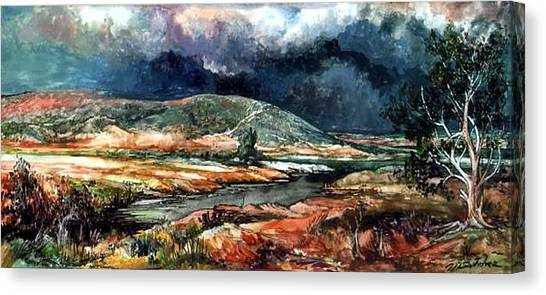 Fall Thunderstorm Approaching Canvas Print