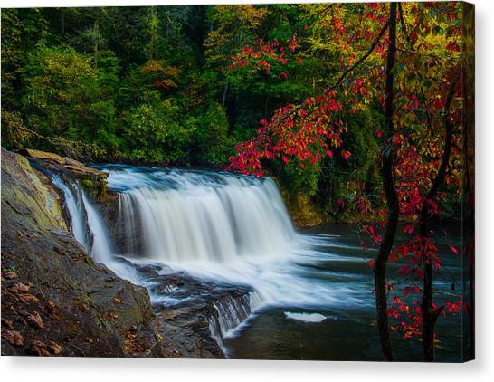 Fall Waterfall Canvas Print by Griffeys Sunshine Photography