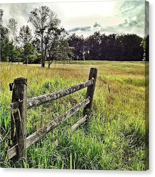 Vermont Canvas Print - Fallen Fences In Vermont by James Whaley Cart
