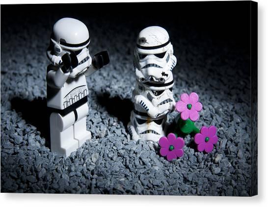 Stormtrooper Canvas Print - Fallen Friends by Samuel Whitton