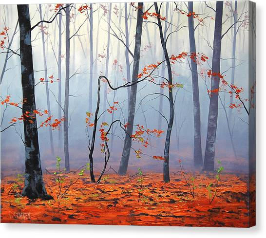 Amber Canvas Print - Fallen Leaves by Graham Gercken