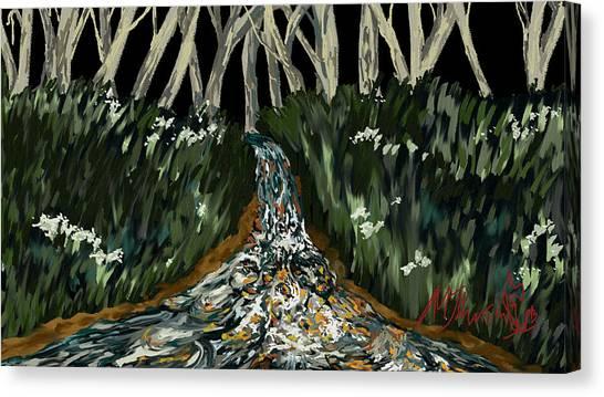 Falling Canvas Print by Amanda Johnson