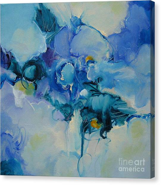 falling into blue I Canvas Print