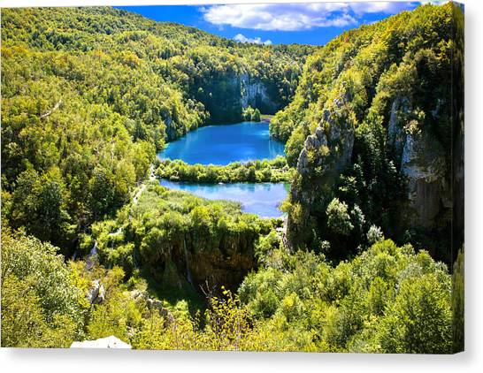 Falling Lakes Of Plitvice National Park Canvas Print