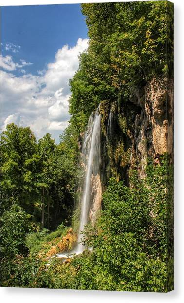 Falling Springs Falls Canvas Print