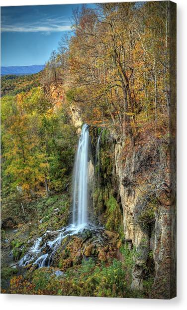 Falling Springs Falls Canvas Print