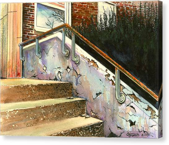 Eastern Kentucky University Canvas Print - Falling Thru The Cracks  by GG Burns