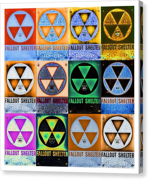 Cold War Canvas Print - Fallout Shelter Mosaic by Stephen Stookey