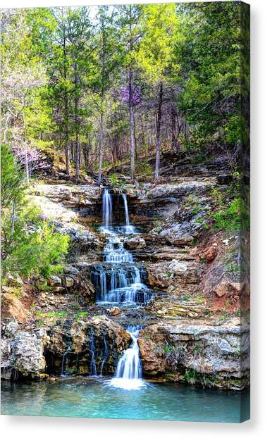 Falls At Little Indian Creek Canvas Print