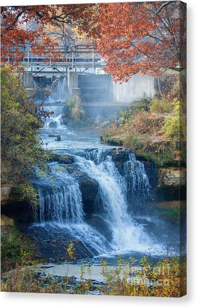 Falls At Pickwick Mill Canvas Print