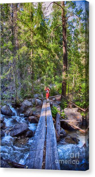Witkowski Canvas Print - Falls Creek Footbridge by Omaste Witkowski