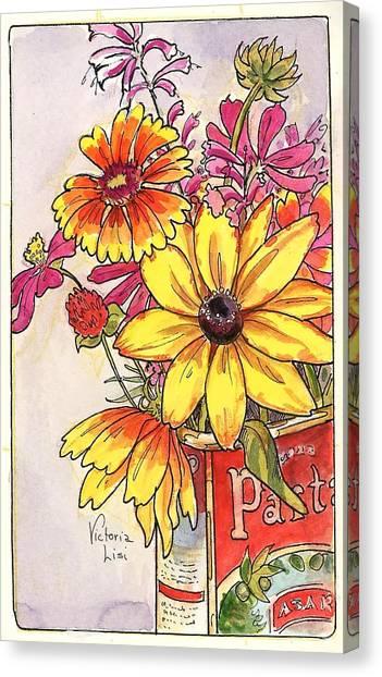 Fall's Last Bouquet Canvas Print