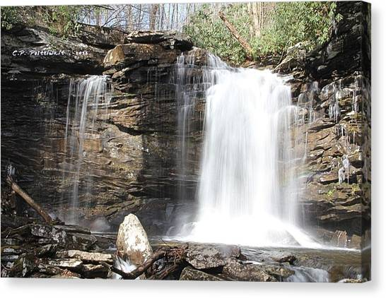 Falls Of Hillscreek 2nd Falls Canvas Print by Carolyn Postelwait
