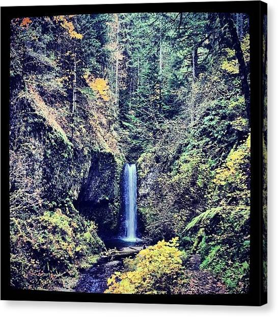 Rome Canvas Print - #falls On A #larchmt #trail #nature by Rome Repcak