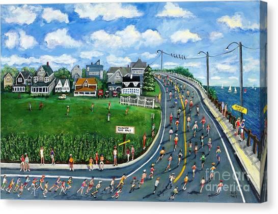 Falmouth Road Race Running Falmouth Canvas Print