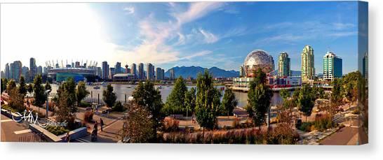 Vancouver Skyline Canvas Print - False Creek Pano by Matt Mayer