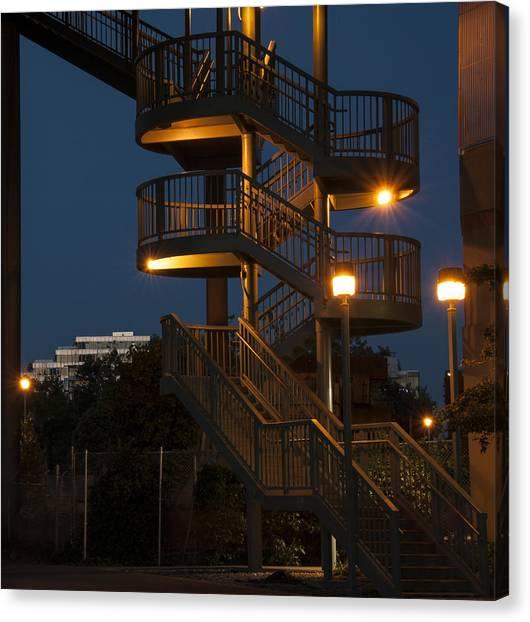 False Creek Stairway Canvas Print