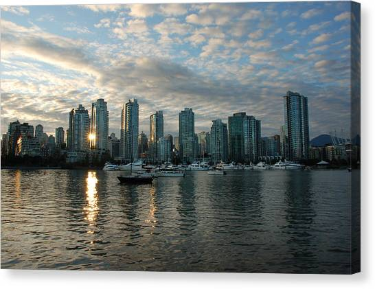 False Creek Sunset Canvas Print