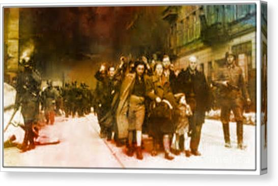 Families Sent  To Death Camps Canvas Print