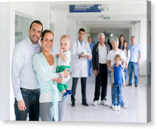Family At The Hospital Canvas Print by Andresr