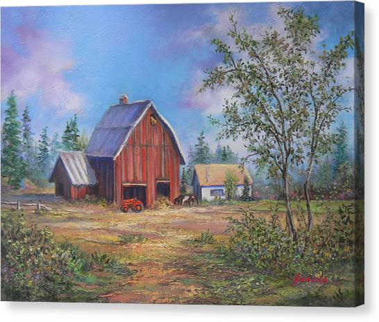 Family Farm  Canvas Print