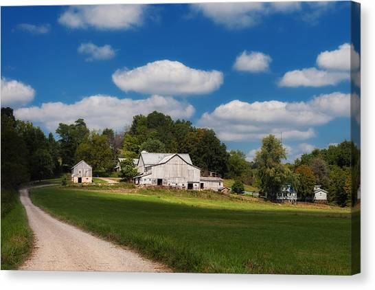 Dirt Road Canvas Print - Family Farm by Tom Mc Nemar