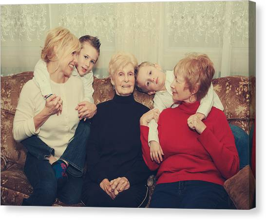 Grandma Canvas Print - Family by Laurie Search