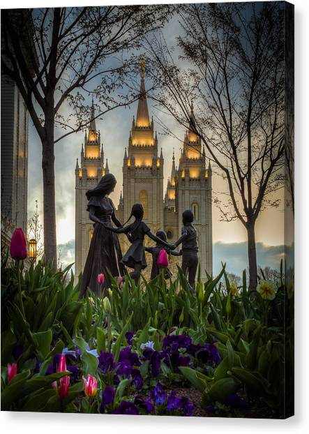 Mormon Canvas Print - Family by Nick  Cardona