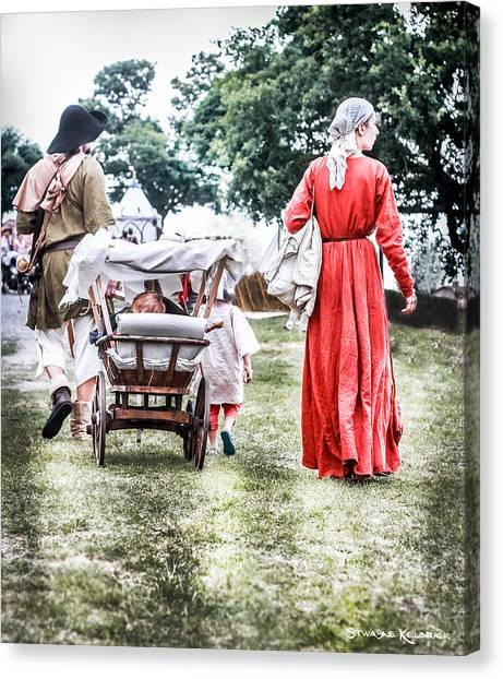 Canvas Print featuring the photograph Family Rollin' by Stwayne Keubrick