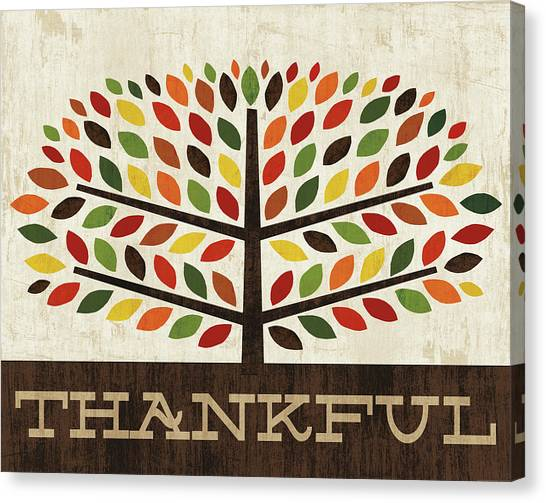 Thanksgiving Canvas Print - Family Tree - Thankful by Michael Mullan