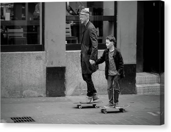 Skateboarding Canvas Print - Family Values by Vadim