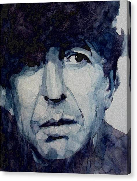 Singers Canvas Print - Famous Blue Raincoat by Paul Lovering