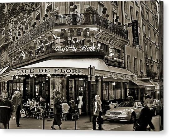 Famous Cafe De Flore - Paris Canvas Print
