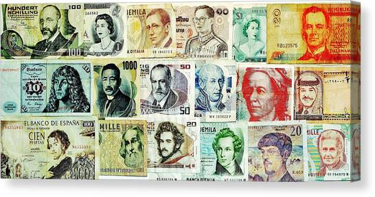 Yen Canvas Print - Famous Faces by Benjamin Yeager