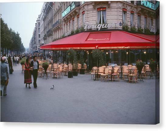 Famous Paris Restaurant - Fouquet's Canvas Print