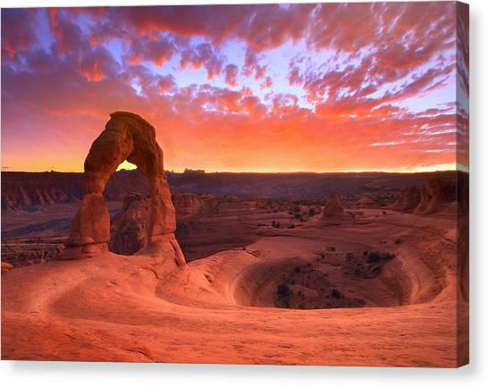 Famous Sunset Canvas Print