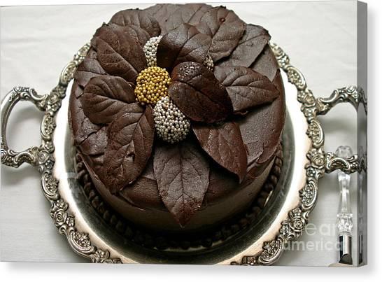 Fancy Chocolate Cake Canvas Print