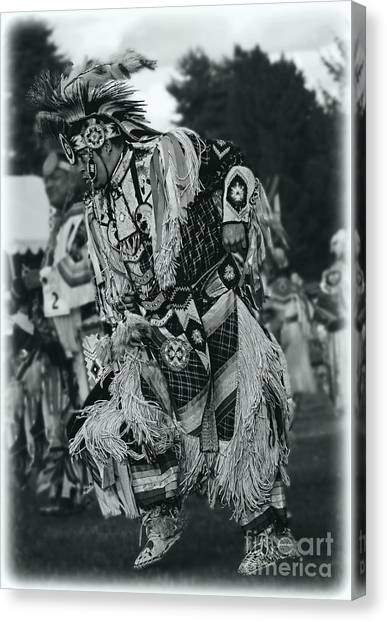 Fancy Dancer In Silver Screen Canvas Print by Scarlett Images Photography