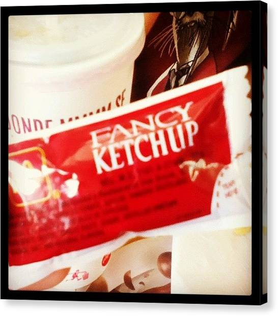 Ketchup Canvas Print - Fancy Ketchup by Miori Bando