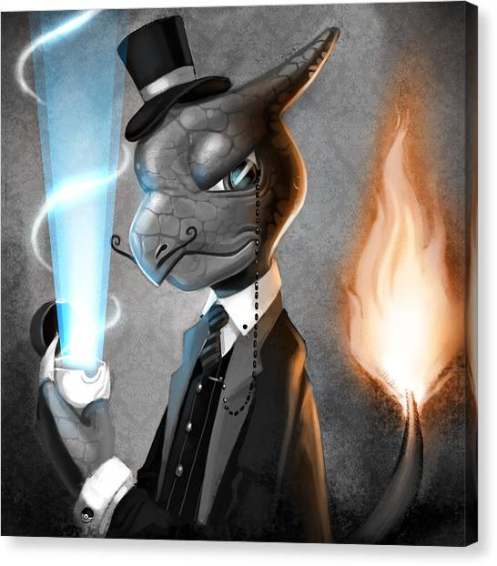 Fancy With Fire Canvas Print