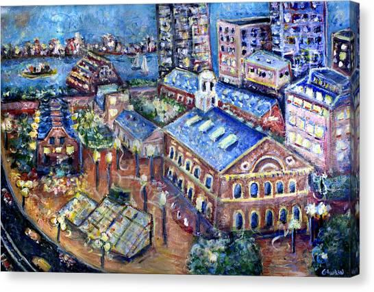 Patriot League Canvas Print - Faneuil Hall by Jason Gluskin