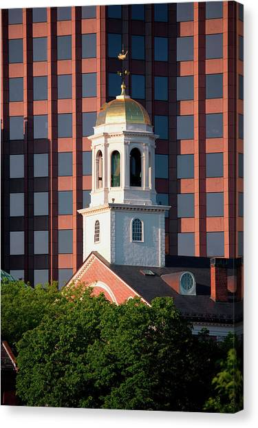 New England Revolution Canvas Print - Faneuil Hall Weather Vane Tower, Built by Panoramic Images