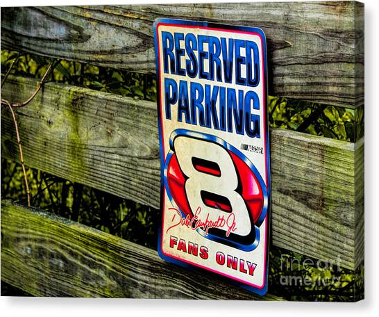 Dale Earnhardt Jr Canvas Print - Fans Only by Dave Bosse