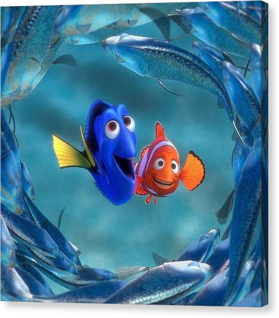 Environment Canvas Print - Finding Dory  by Oscar Lopez