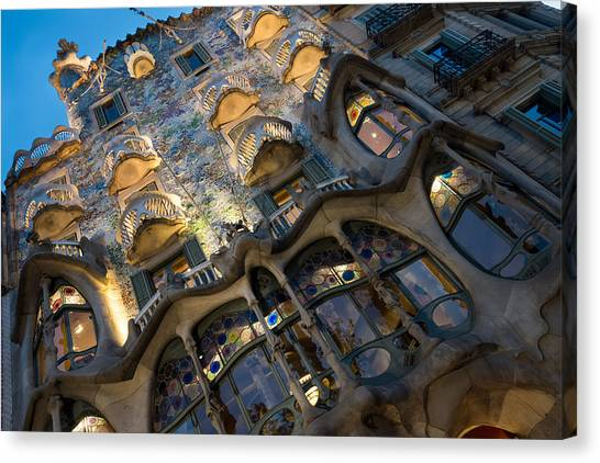 Fantastical Casa Batllo - Antoni Gaudi Barcelona Canvas Print