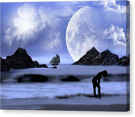 Fantasy Beach Canvas Print