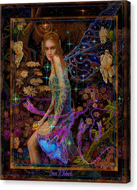Fantasy Fairy Princess-angel Tarot Card Canvas Print