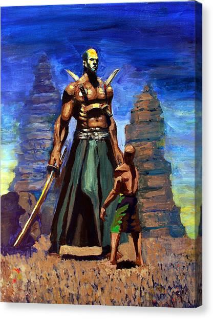 Mortal Kombat Canvas Print - Fantasy Illustration African Giant by Marcus Greene